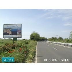 Билборд вход Черноморец от Созопол на главен път Бургас - Созопол.