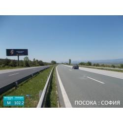 Мегаборд на магистрала Тракия вход София след Нови Хан.